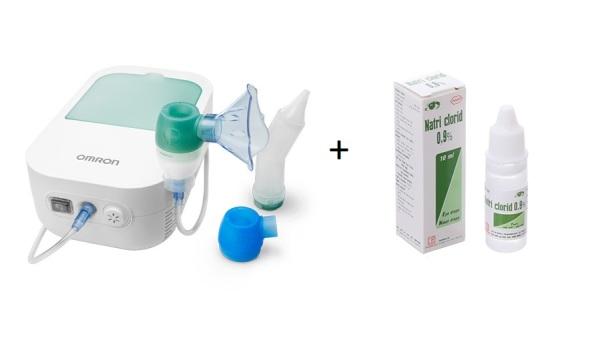 Máy hút mũi và xông khí dung 2 trong 1 Omron Duobaby tặng kèm 1 chai nước muối sinh lí