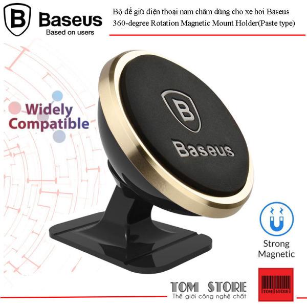 Bộ đế giữ điện thoại nam châm dùng cho xe hơi Baseus 360-degree Rotation Magnetic Mount Holder (Paste type)