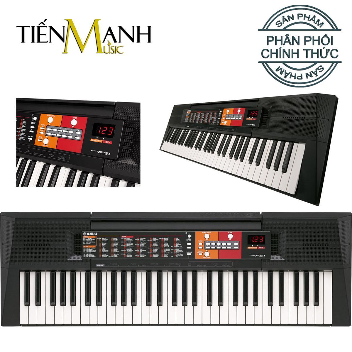 Giá Cực Tốt Khi Mua Đàn Organ Yamaha PSR-F51 - Hãng Phân Phối Chính Thức (Keyboard PSR F51 - Hàng Chính Hãng, Có Tem Chống Hàng Giả Bộ CA - Bộ Đàn, Nguồn)