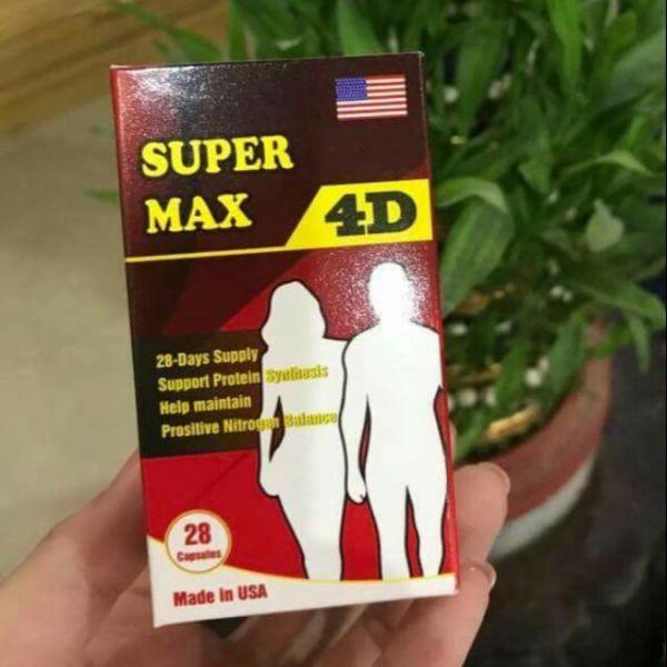 [HCM]TĂNG CÂN SUPER MAX 4D hộp 30 viên cao cấp