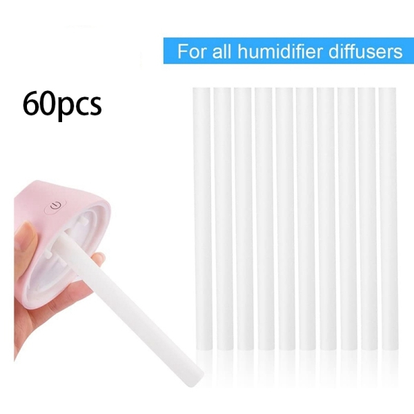 60Pcs Cotton Swab Filters Refill Sticks Replacement Wicks for Portable Personal USB Powered Humidifiers Aroma Maker Singapore
