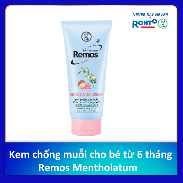 Kem chống muỗi cho bé từ 6 tháng tuổi Remos Mentholatum hương Khuynh diệp (70g)