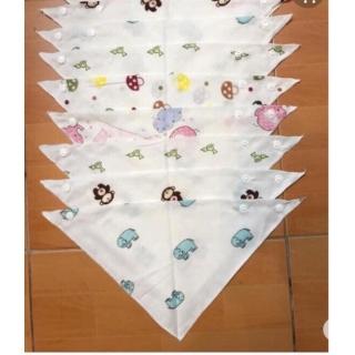 Sét 5 khăn yếm tam giác cho bé có in hình thumbnail