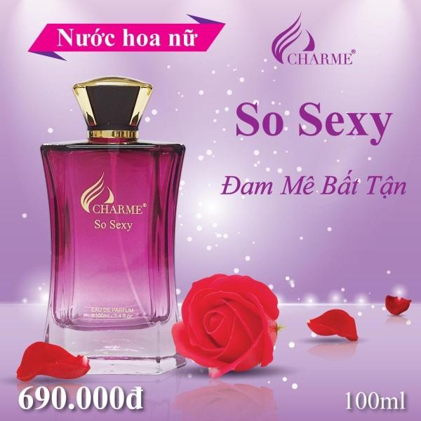 Nước hoa nữ So Sexy - HƯƠNG HOA HỒNG NHẸ NHÀNG ĐẦY GỢI CẢM - MẪU MỚI NHẤT (100ML)