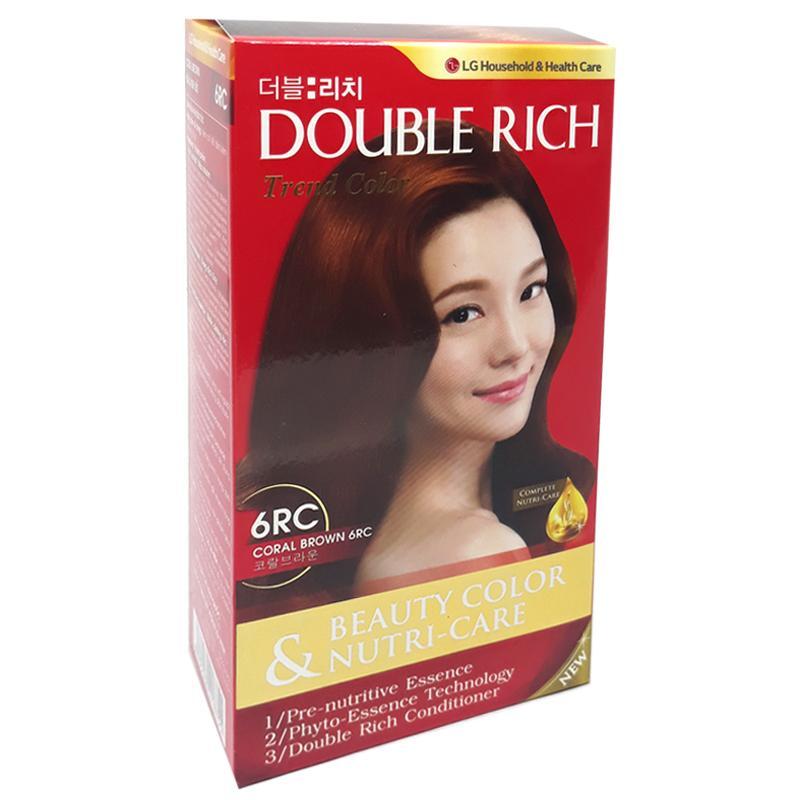 Thuốc nhuộm tóc Double Rich màu nâu socola 6RC