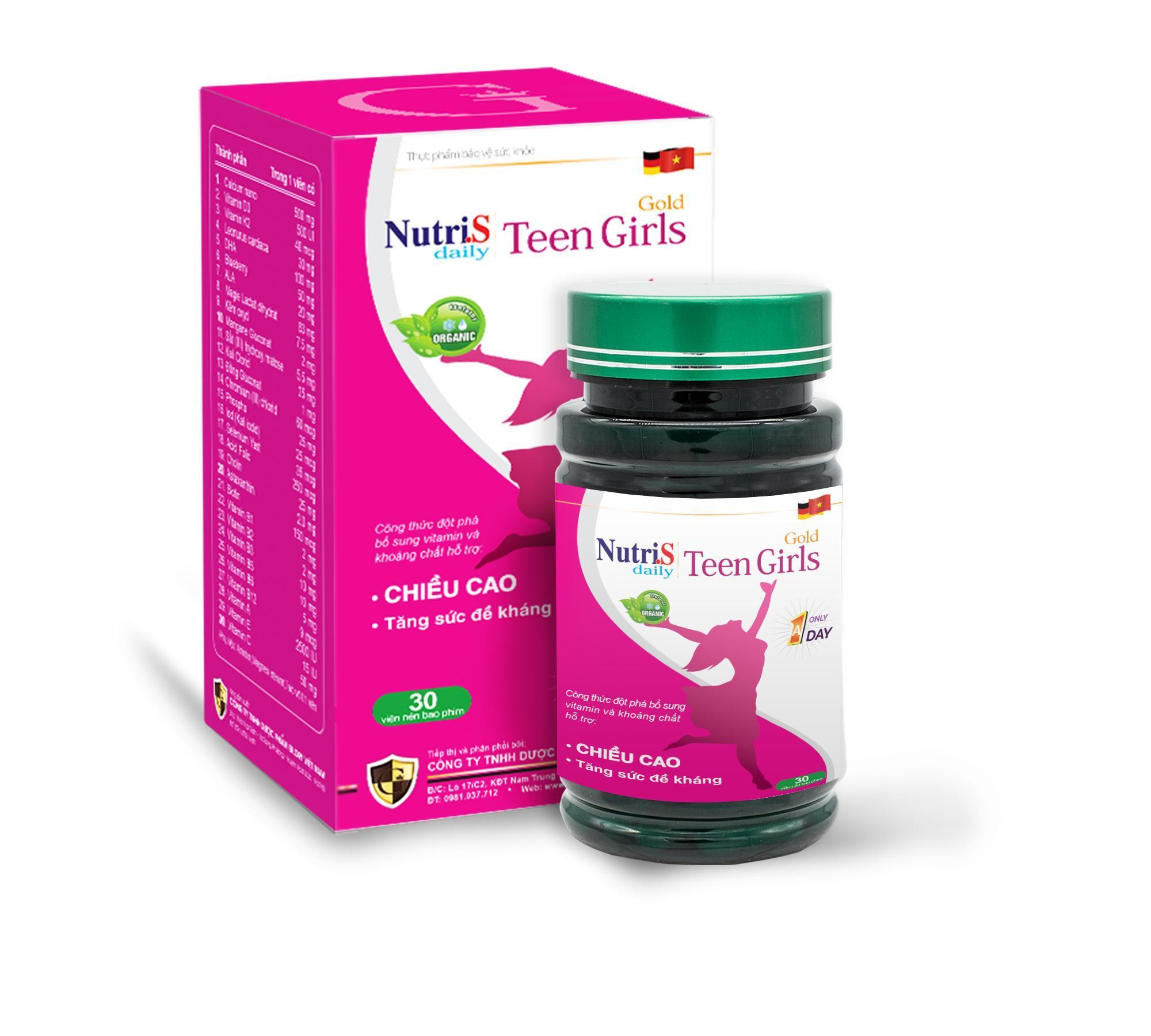 Thực phẩm tăng  chiều cao cho trẻ Nutri.S Daily Teen Girls Gold cao cấp