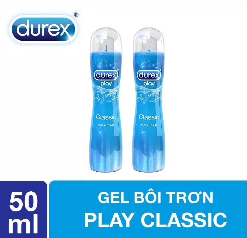 Bộ 2 chai gel bôi trơn Durex Classic 50ml cao cấp