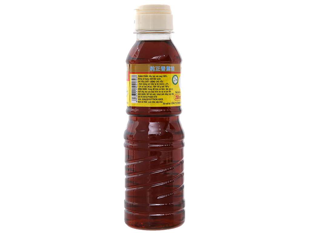 Dầu mè thơm nguyên chất Nakydaco chai 250ml