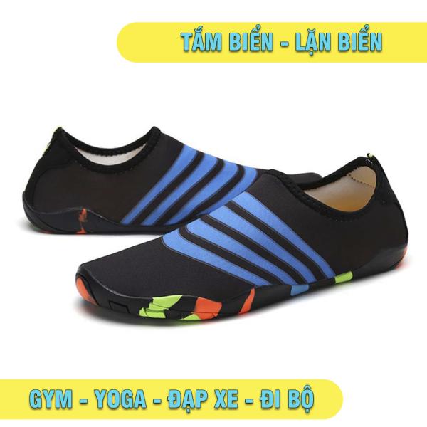 Giày đi biển thái lan đen sọc xanh dùng cho cả gia đình  🔥 Giày đi bộ, đi dã ngoại – thể dục cho cả nhà giá rẻ