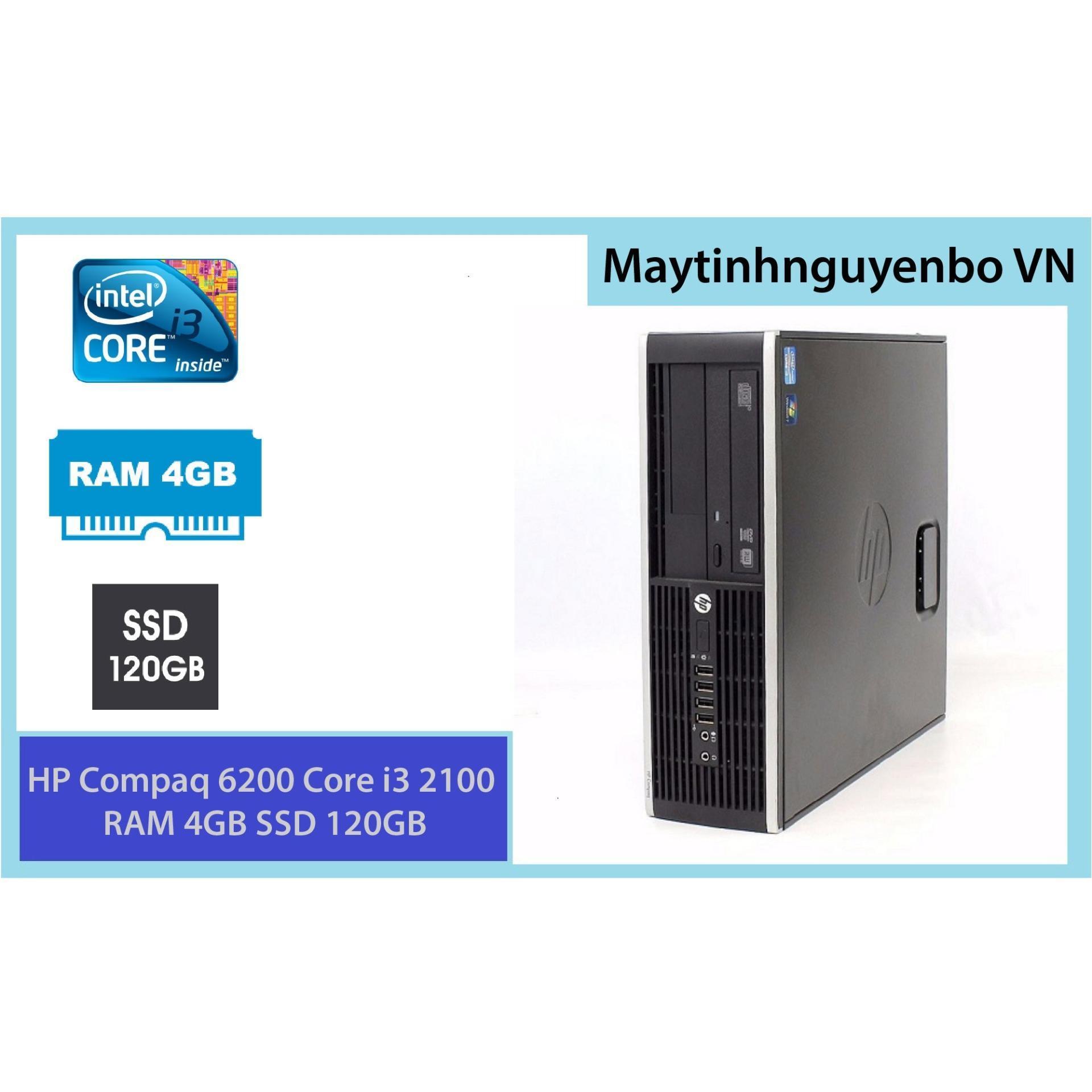 Máy tính đồng bộ HP Compaq 6200 Core i3 2100 RAM 4GB SSD 120GB