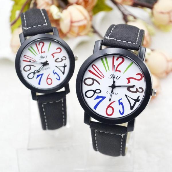 Đồng hồ cặp thấy là thích 12 số màu cá tính - 2 chiếc như hình