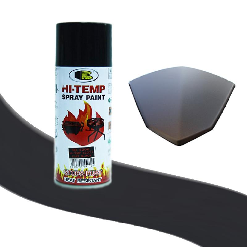 Sơn xịt chịu nhiệt độ cao màu đen mờ nhám - HI-TEMP Bosny