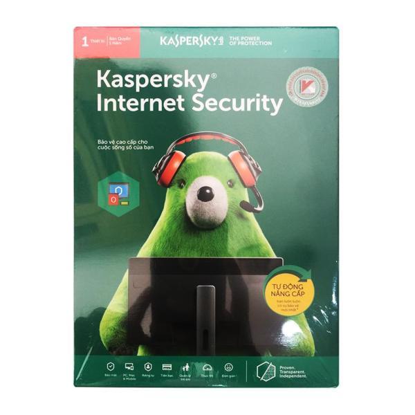 Bảng giá Phần mềm diệt virus Kaspersky Internet Security 1PC Phong Vũ