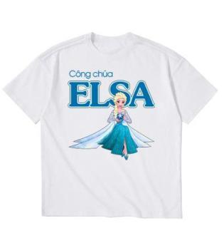 Áo thun bé gái in hình dễ thương M25 Thương Hiệu Elsa thumbnail