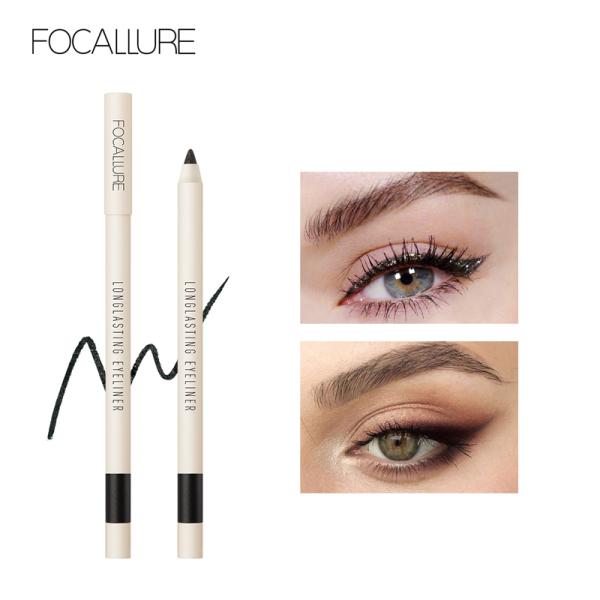 FOCALLURE Bút kẻ mắt dạng gel lâu trôi không thấm nước Dễ dàng để trang điểm đen Bút kẻ mắt