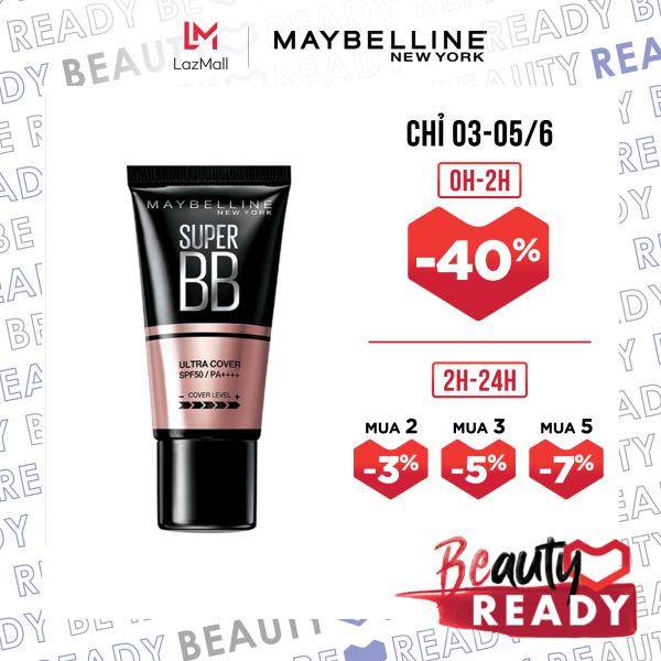 Kem trang điểm BB che khuyết điểm và chống nắng Maybelline New York Super BB Ultra Cover SPF 50 PA++++ giá rẻ