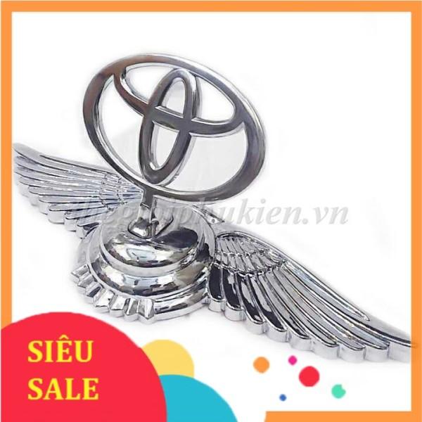 Logo gắn mui xe cánh thiên thần 3D cho xe Toyota