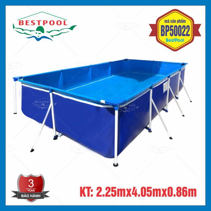 Bể bơi lắp ghép khung kim loại KT 2.25m x 4.05m x 0.86m, bể bơi cho bé, bể bơi di động, bể bơi tại nhà