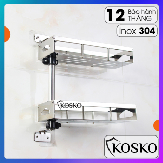Kệ gia vị inox 304 KOSKO xoay 180 độ 2 tầng dễ dàng lắp đặt không cần gọi thợ Kệ gia vị Kệ nhà bếp đa năng thumbnail