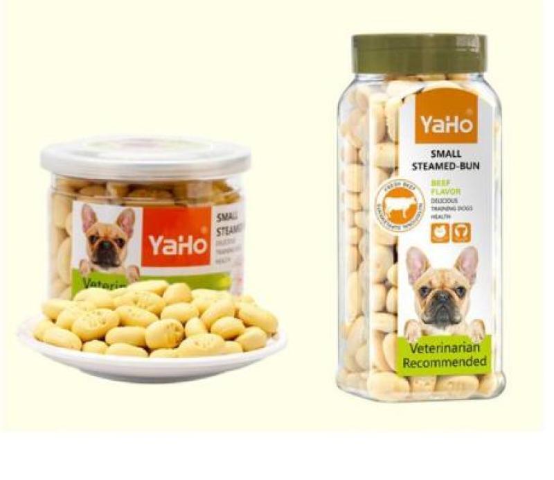 Hộp bánh thưởng bổ sung canxi chó mèo thú cưng Yaho Pets