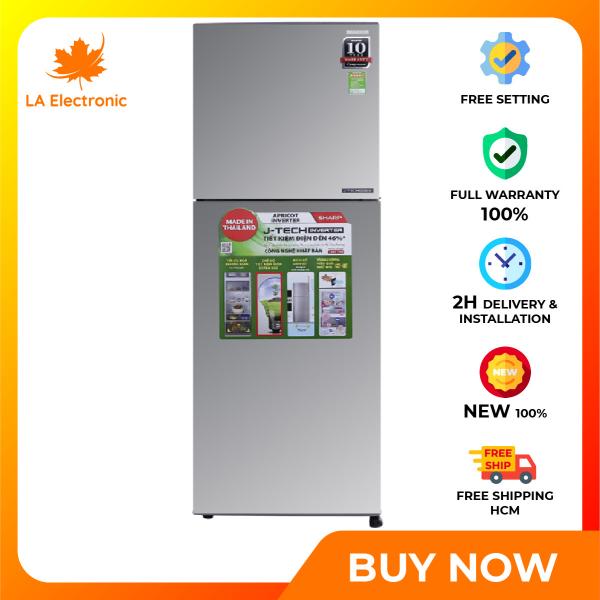 Trả Góp 0% - Tủ Lạnh - Sharp Inverter 224 liter refrigerator SJ-X251E-SL Full VAT - Miễn phí vận chuyển HCM