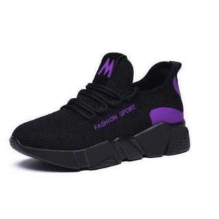 Mẫu HOT Giày Sneaker Thể Thao Nữ Đen Vải Mềm Nhẹ Cực Êm Chân Cá Tính - 3175 thumbnail