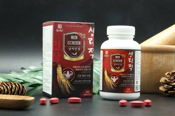 Viên Uống Tăng Cường Sinh Lý Men Ginsen- Giúp Bổ Thận Tráng Dương, Tăng Cường Sinh Lực- Hộp 30 viên nhập khẩu