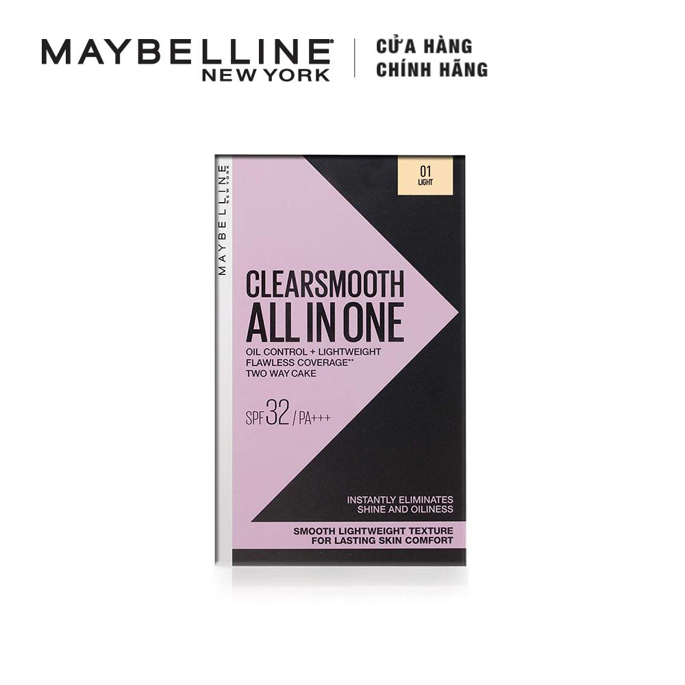 Phấn phủ kiềm dầu siêu mịn 5 trong 1 Clear Smooth All In One Powder Foundation Maybelline New York 9g tốt nhất