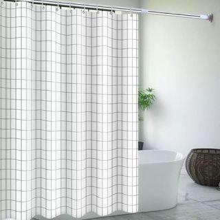 Màn treo nhà tắm Caro trắng size 1m8 x 1m8 thumbnail