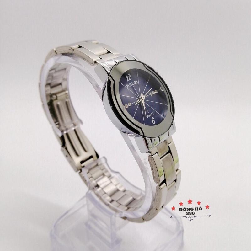 Đồng hồ nữ HALEI dây kim loại thời thượng ( HL457 dây trắng mặt xanh ) - Kính Chống Xước, Chống Nước Tuyệt Đối, Mạ PVD Cao Cấp Chống Gỉ Chống Phai Màu Thời Trang Hottrend 2020