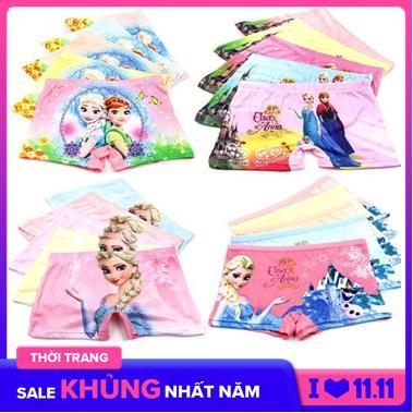Giá bán Combo 10 quần chip đùi 3D in hình công chúa Elsa (TU 10-30 KY xem bảng size phía dưới)