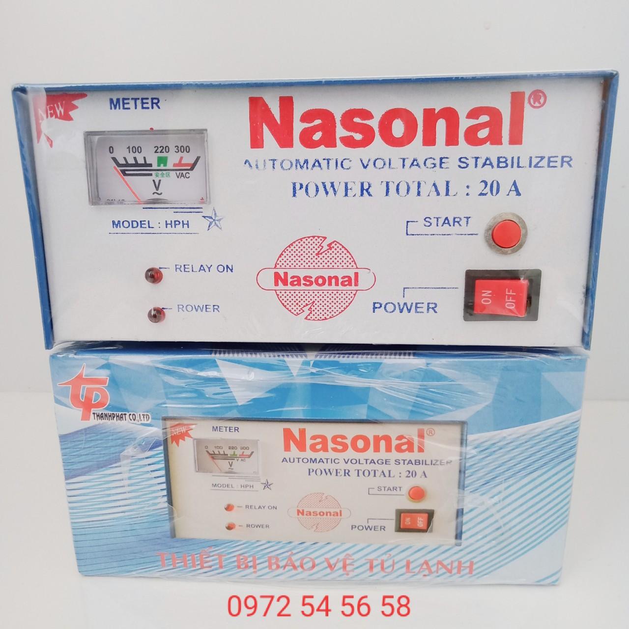 Bảng giá Relay, thiết bị bảo vệ tủ lạnh, ổn áp tủ lạnh cao cấp 20A NASONAL - Điện -gia dụng ngọc hân Điện máy Pico