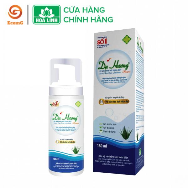 Dung dịch vệ sinh phụ nữ cao cấp dạng bọt 180ml Dạ Hương Sensi Lô Hội - Đặc chế cho da nhạy cảm- DH2-01 giá rẻ
