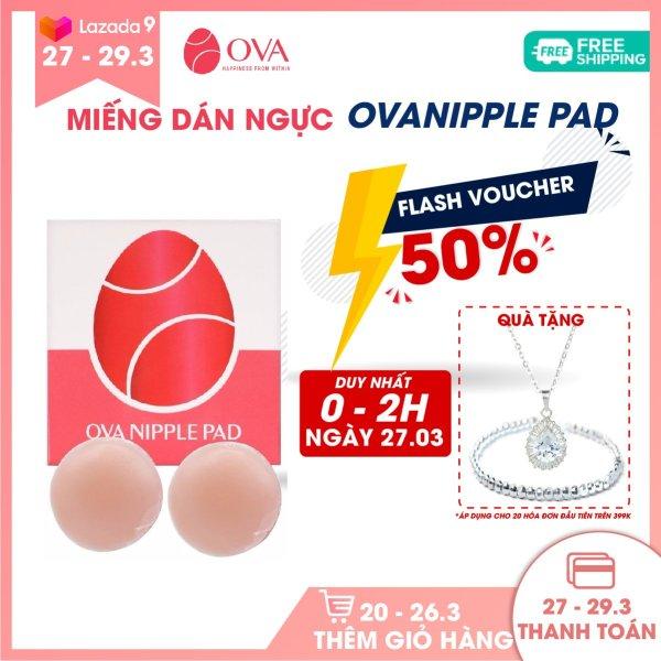 Miếng dán ngực silicon cao cấp OvaPink Nipple Pad siêu dính, thật như da tự nhiên, tái sử dụng 6 tháng, che đầu ti, nhũ hoa.