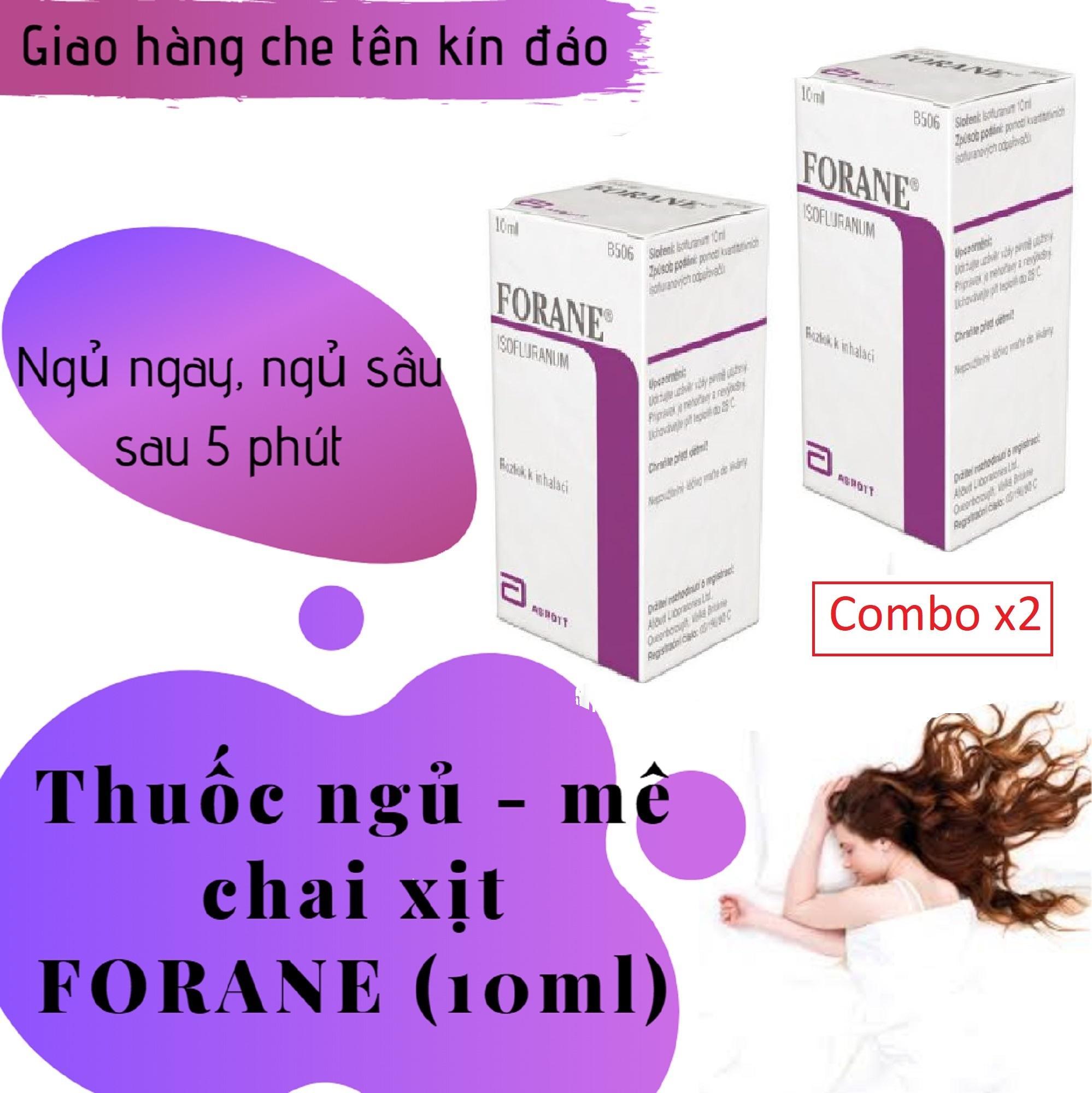 Combo x2 Thuốc_chai xịt hỗ trợ giấc ngủ FORANE (chai 10ml) giá mê ly