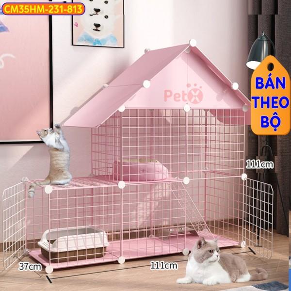 Chuồng Mèo 3 Tầng 2 Tầng Giá Rẻ Đẹp Lắp Ghép Đa Năng Đơn Giản Với Lưới Sắt Sơn Tĩnh Điện Có Thể Cho Thỏ, Sóc, Bọ Ú