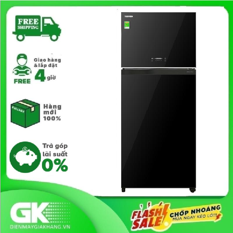 [Nhập ELMAY21 giảm 10% tối đa 200k đơn từ 99k]TRẢ GÓP 0% - Tủ lạnh Toshiba Inverter 608 lít GR-AG66VA(XK)- Bảo hành 2 năm