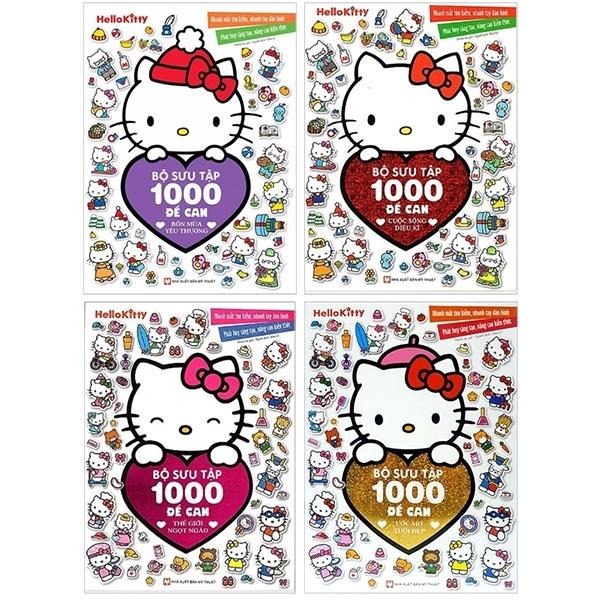 Fahasa - Bộ Sách Hello Kitty - Bộ Sưu Tập 1000 Đề Can (Bộ 4 Cuốn)