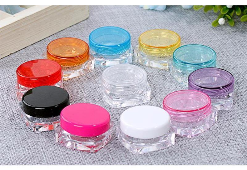 Hũ nhựa 5g mỹ phẩm kem nhựa PS, Bộ 10 cái, màu tự chọn - SỈ LẺ