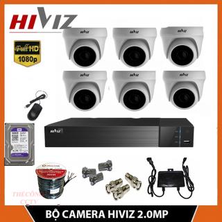 Bộ 6 Camera giám sát HIVIZ đầu thu 5.0MP 2K Siêu nét - Trọn Bộ Camera 6 Kênh 4IN1+ Ổ Cứng Lưu Trữ, Đủ phụ kiện thumbnail