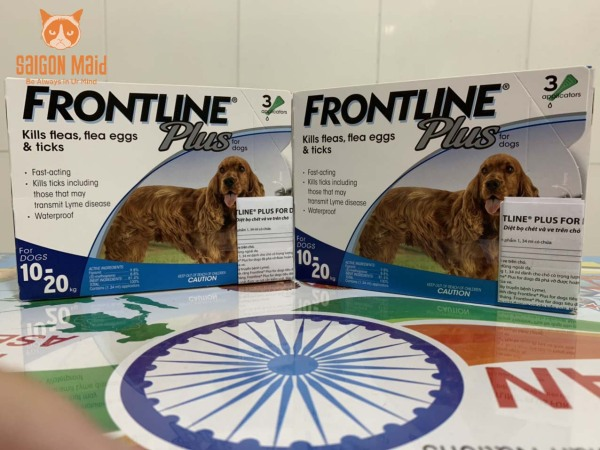 Sản phẩm nhỏ gáy Frontline Plus dành cho chó (10-20kg)