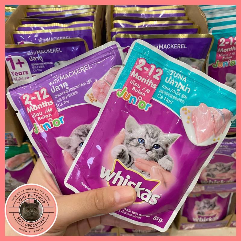 Combo 12 gói pate Whiskas cho mèo con (chọn vị)