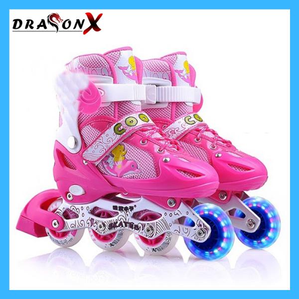 Phân phối [Tặng đồ bảo hộ] Giày trượt Patin Sport trẻ em có đèn led cao cấp - DRX68