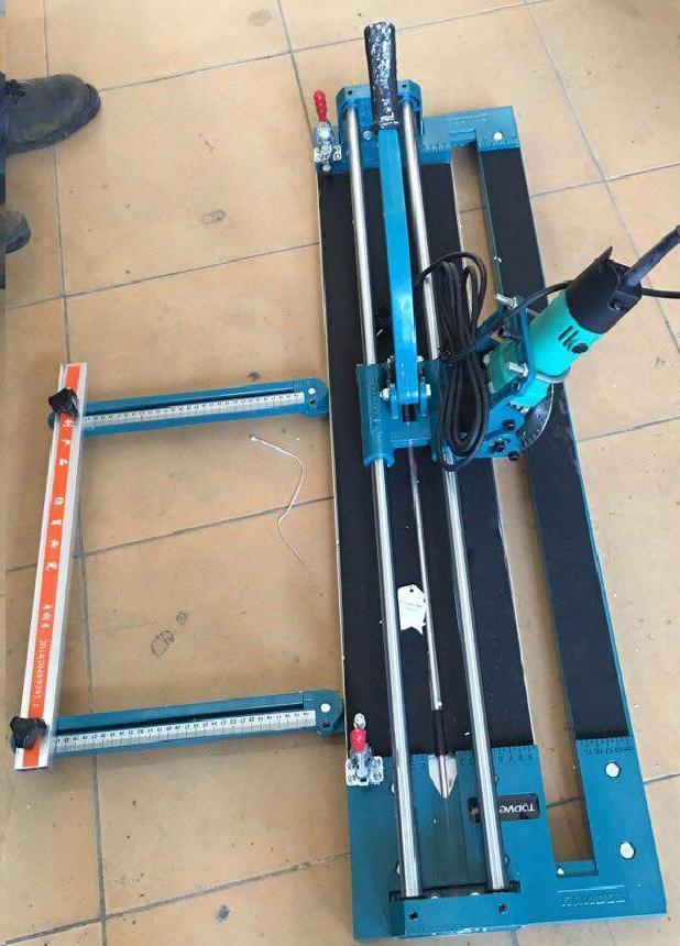 Máy cắt gạch không điện kèm máy mài mòi