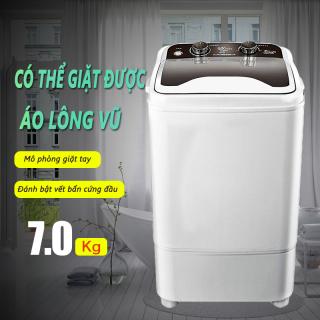 Máy giặt 7kg bán tự động màu xám nắp đen máy giặt 1 lồng cửa trên Tops Market thumbnail