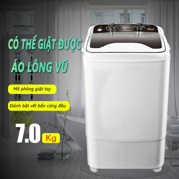 Bảng giá Máy giặt 7kg bán tự động màu xám nắp đen máy giặt 1 lồng cửa trên Keep Going Max Điện máy Pico