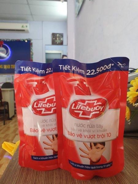Combo 2 túi Lifebuoy nước rửa tay bảo vệ vượt trội 10 450g giá rẻ