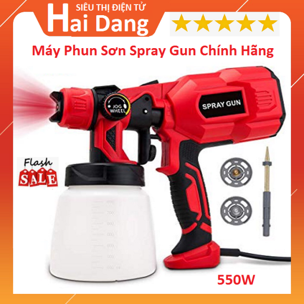 Máy Phun Sơn Spray Gun 550w, Máy Phun Sơn Mini Cầm Tay Cao Cấp, Súng Phun Sơn Dùng Điện 220v 550w Cam Kết Hàng Hãng Spray Gun CX31 Nội Địa Trung Quốc