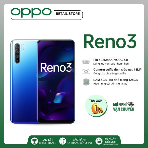 TRẢ GÓP 0% Điện thoại OPPO Reno 3 (8GB/128GB)- Hàng chính hãng bảo hành 12 tháng