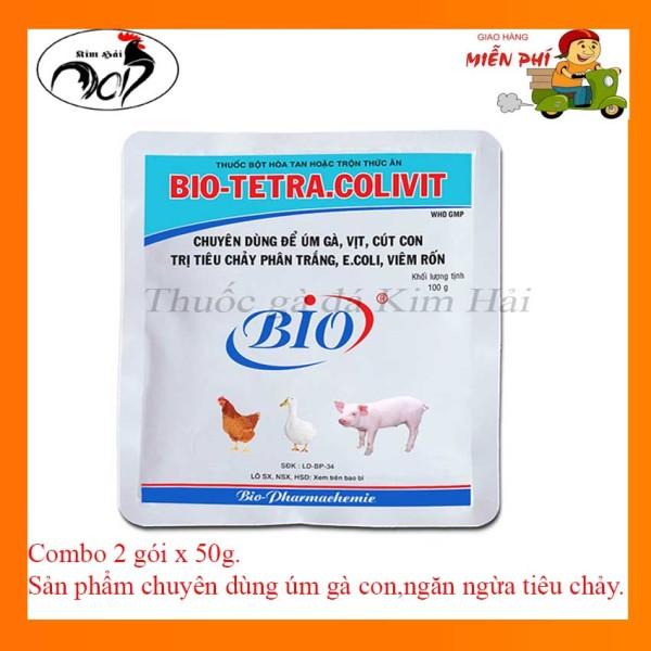 Tetra Colivit-Úm Gà Con[combo 2 gói x 50g] Chuyên dùng úm gà con ,ngăn ngừa viêm rốn,tiêu chảy,viêm rốn.